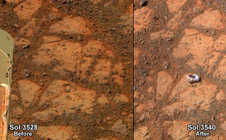 Image: Rock on Mars shaped like a jelly doughnut