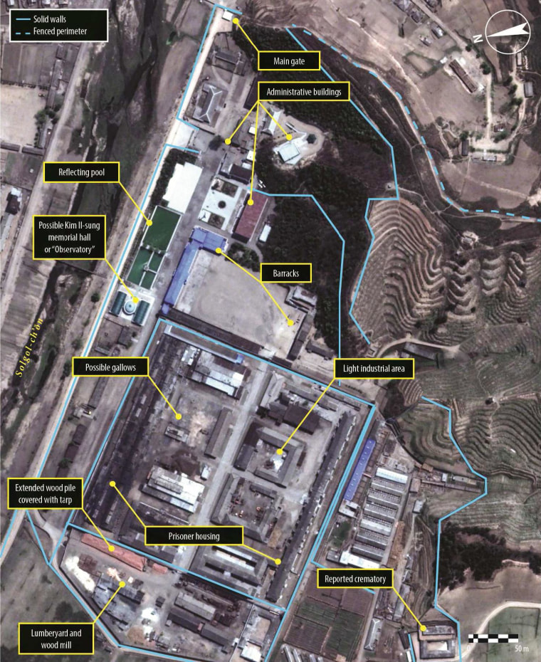 Satellite imagery of Political Prison Camp No. 25, in Chongjin, North Hamgyong Province.