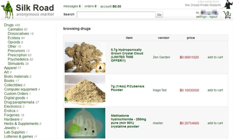 Image: Silk Road interface