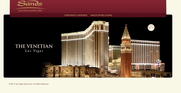 Image: Las Vegas Sands website