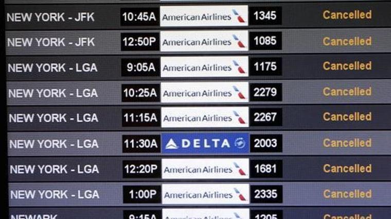 Flight board cancellations