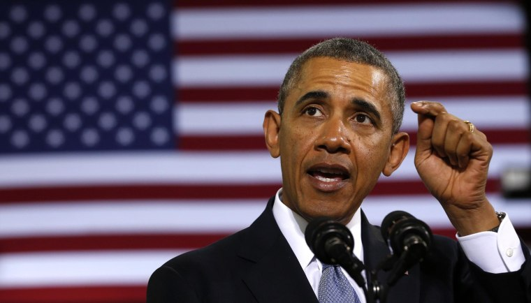 Image: U.S. President Obama delivers remarks on the economy at the Safeway Distribution Center in Upper Marlboro