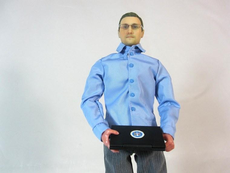 Image: Edward Snowden action figure