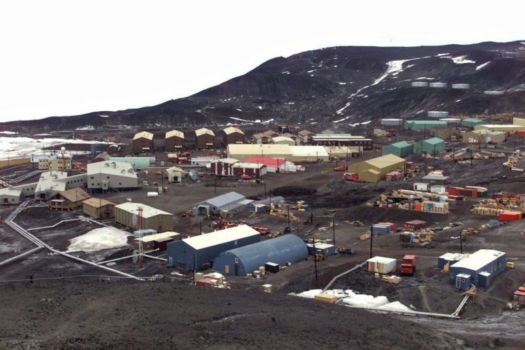 GENERAL VIEW OF THE UNITED STATES MCMURDO STATION IN ANTARCTICA.