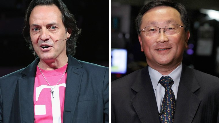 T-Mobile CEO John Legere and BlackBerry CEO John Chen are at odds over T-Mobile's latest promotion, which offers BlackBerry users incentives to switch to iPhone.