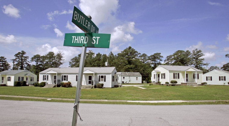 Image: Older base housing in the Midway Park neighborhood at Camp Lejeune, N.C.