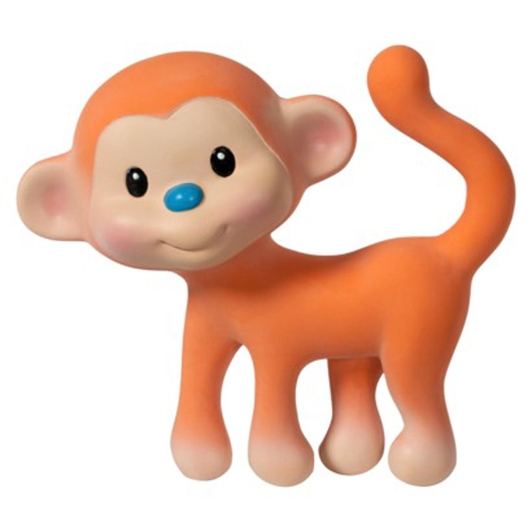 Go Gaga Squeeze & Teethe Coco the Monkey teething toy. It has been recalled for a choking hazard.