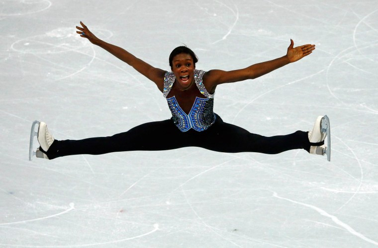 Image: Mae Berenice Meite during women's free skating program at 2014 Sochi Winter Olympics