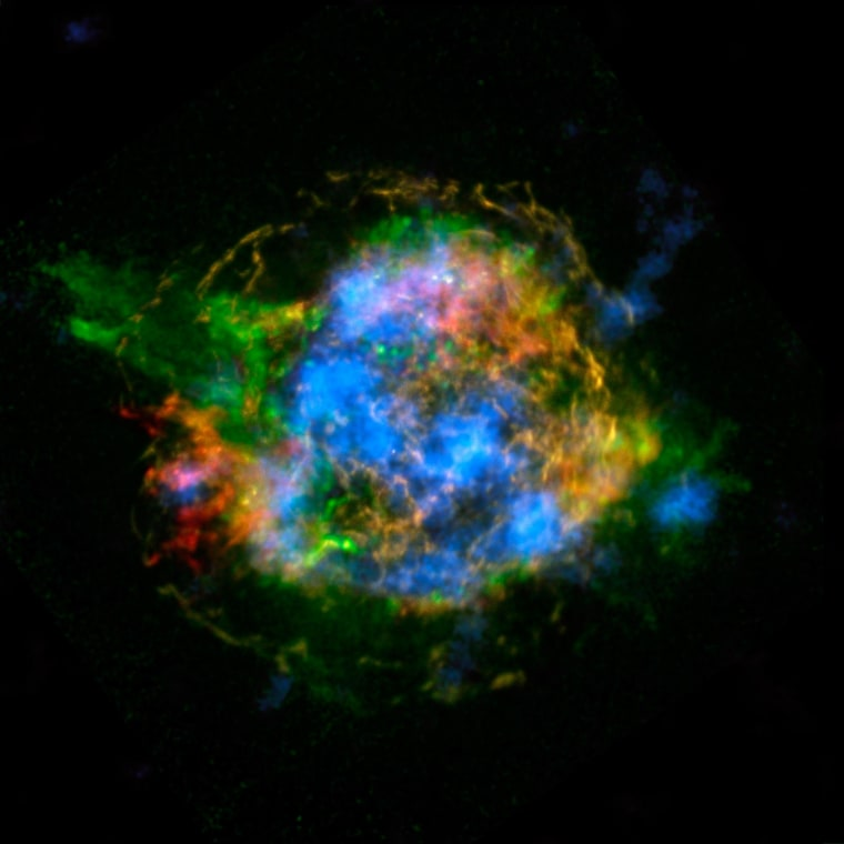 Image: Map of radioactivity in a supernova remnant