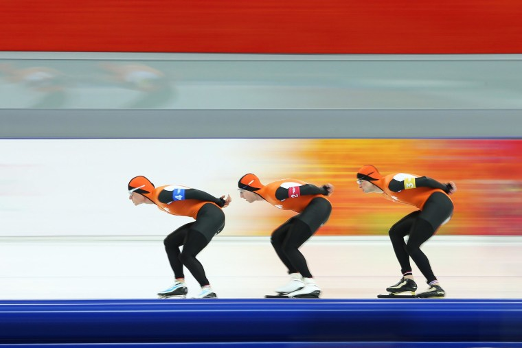 Image: Speed Skating - Winter Olympics Day 14