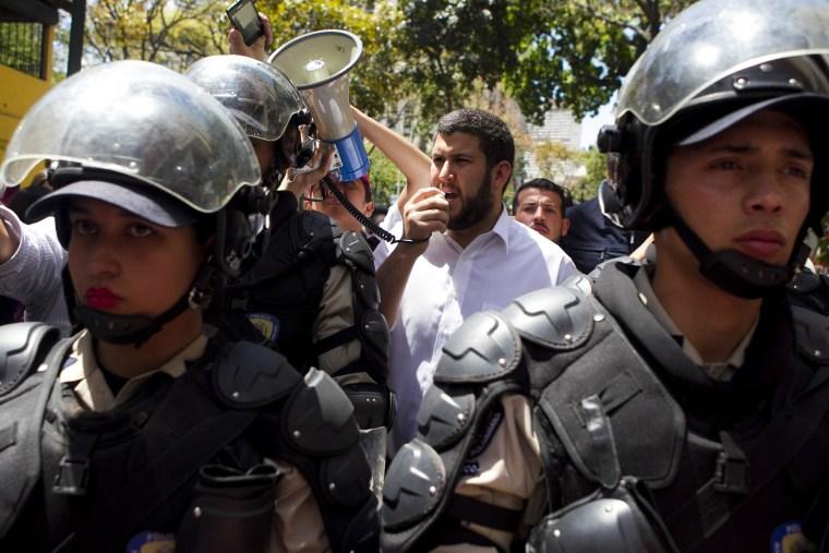 Image: Demonstration against the Venezuelan government