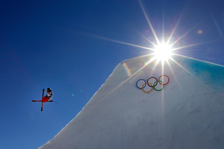 Gus Kenworthy of the United States competes in the Freestyle Skiing Men's Ski Slopestyle Finals during day six of the Sochi 2014 Winter Olympics at Rosa Khutor Extreme Park on Feb. 13, 2014 in Sochi, Russia.