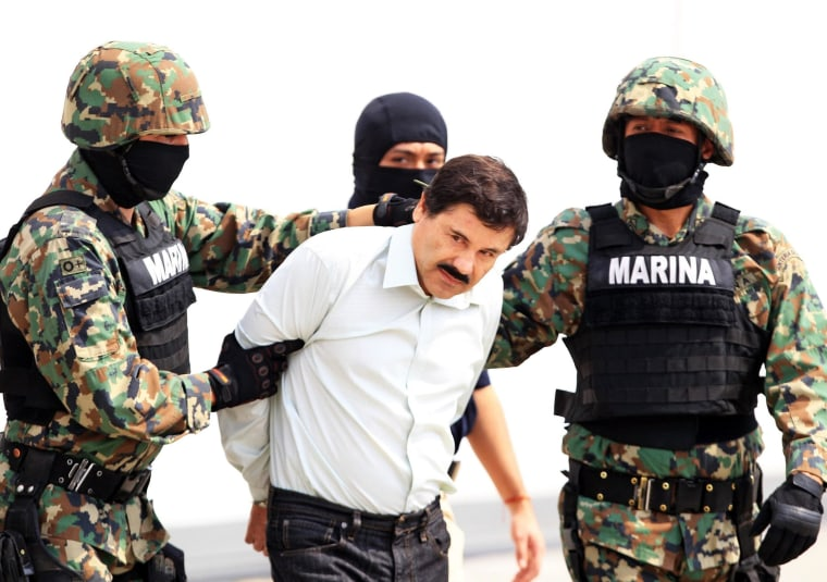 Image: Drug lord Chapo Guzman captured