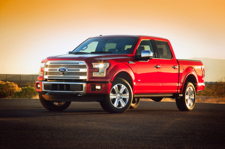 Ford says its 2015 F-150 pickup truck will be 700 pounds lighter and more fuel efficient because of lightweight materials