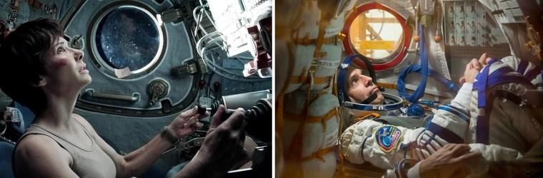 Image: Sandra Bullock in Gravity   NASA astronaut Rick Mastracchio