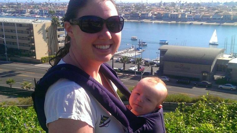 Image: Lindsay Jaynes and her infant son