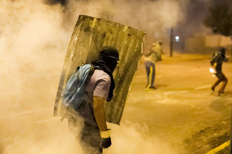 Image: Barricades and protests continue in Venezuela