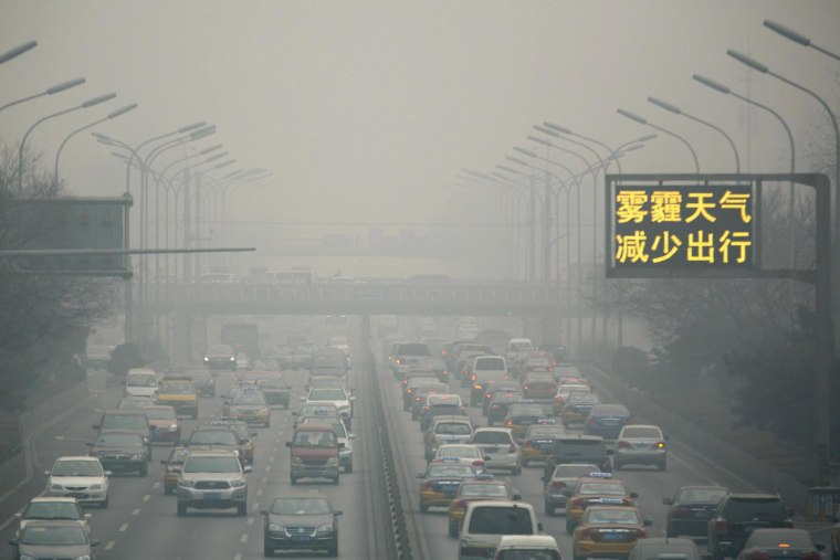 Image: Severe smog in Beijing, China
