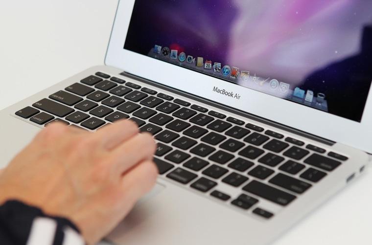 Image: A Mac Book Air computer