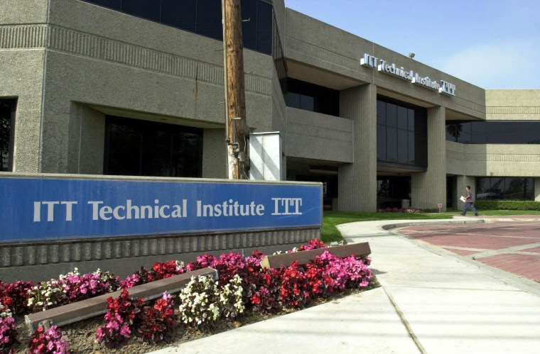 The campus of ITT Technical Institute in Anaheim, Ca
