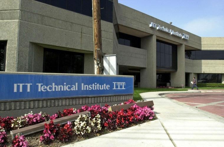 The campus of ITT Technical Institute in Anaheim, Ca