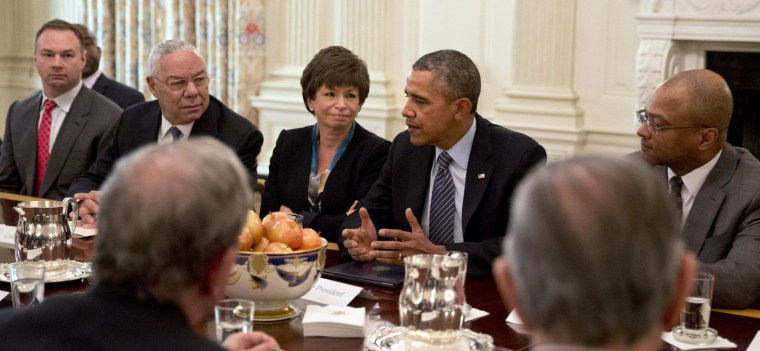 Image: Barack Obama, Valerie Jarret, Colin Powell
