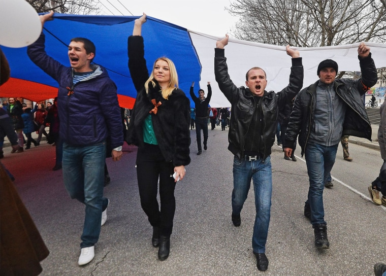 Image: Concerns Grow In Ukraine Over Pro Russian Demonstrations In The Crimea Region