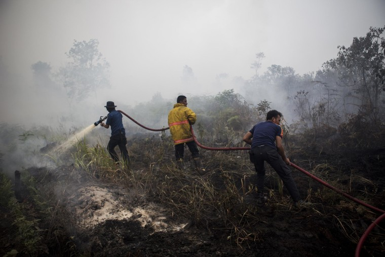 Image: Indonesia declares state of emergency as Riau haze worsens