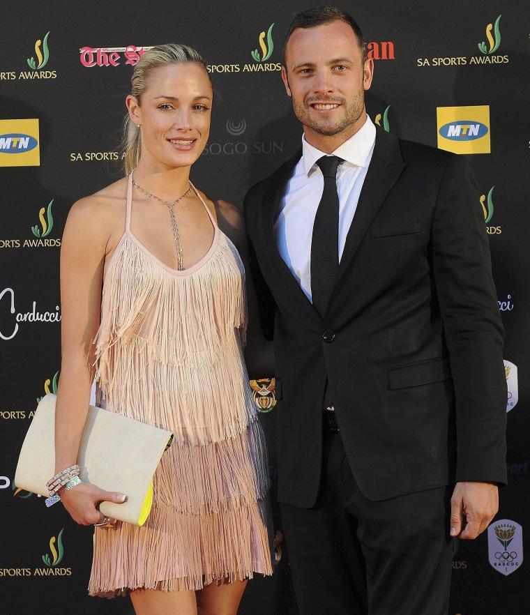 Image:  Oscar Pistorius and Reeva Steenkamp on Nov. 4, 2012