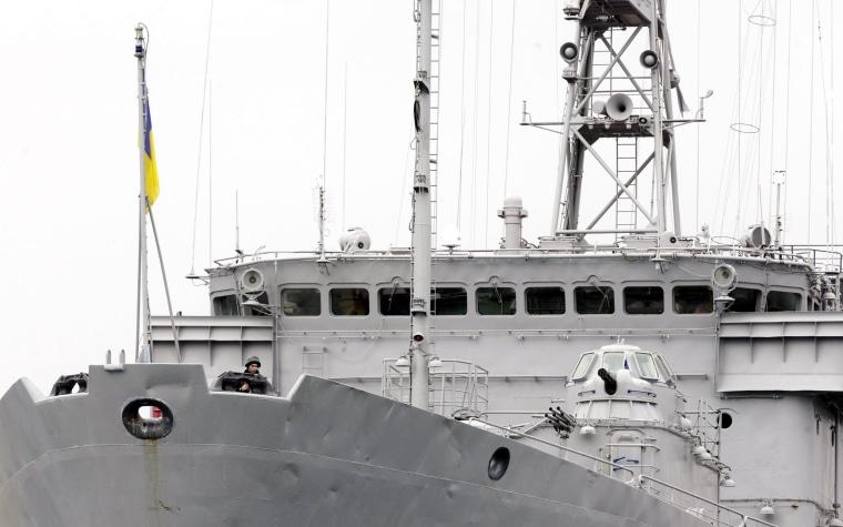 Image: Ukranian navy in Sevastopol port