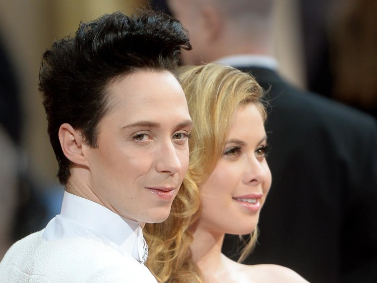Image: Johnny Weir, left, and Tara Lipinski