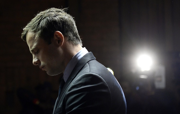 Image: Oscar Pistorius in court.