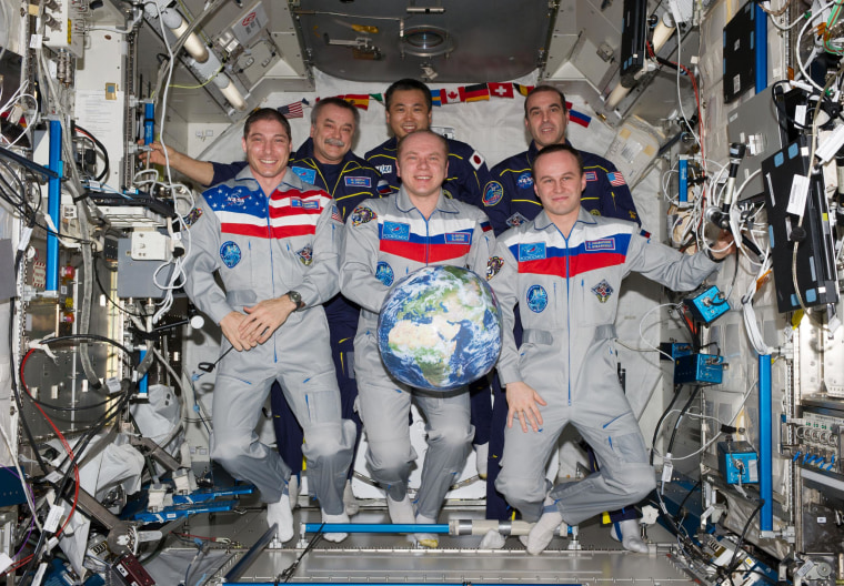Image: Space station crew