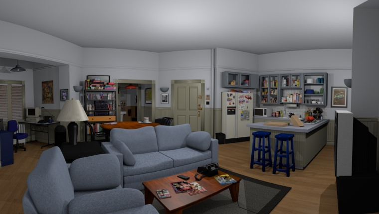 Virtual model of Seinfeld apartment