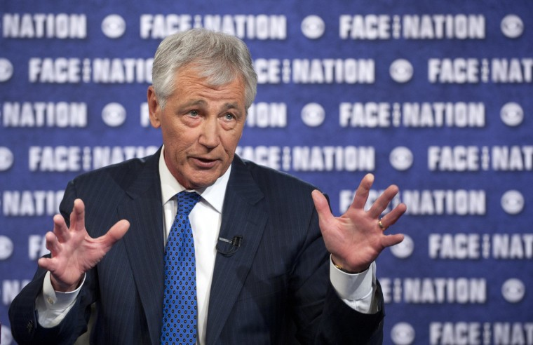"Image: Chuck Hagel Appears On ""Face the Nation"""