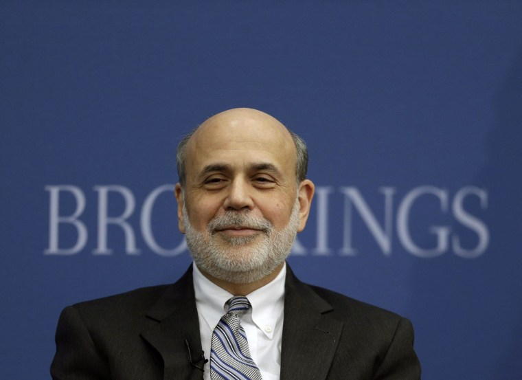 Dough boy. Former Fed chief Bernanke earned more in his first post-Fed speech than he made all of last year as head of the central bank.