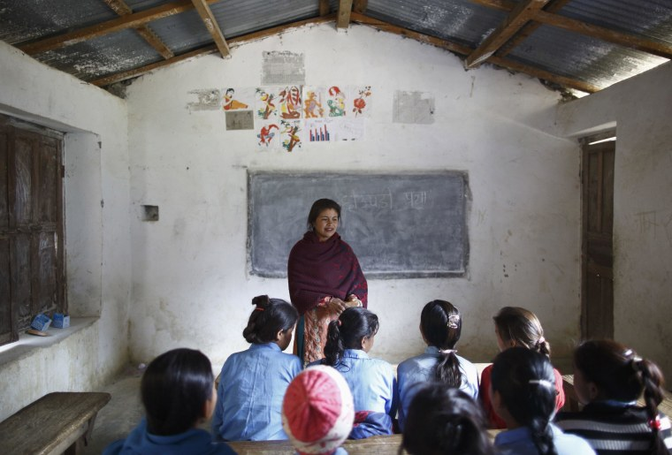 Image: Rupa Chand Shah teaches an awareness class