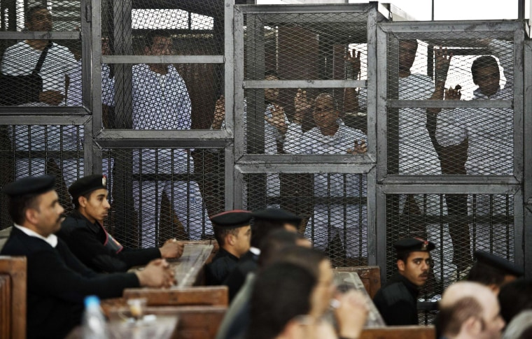 Image: EGYPT-POLITICS-UNREST-MEDIA-TRIAL-JAZEERA