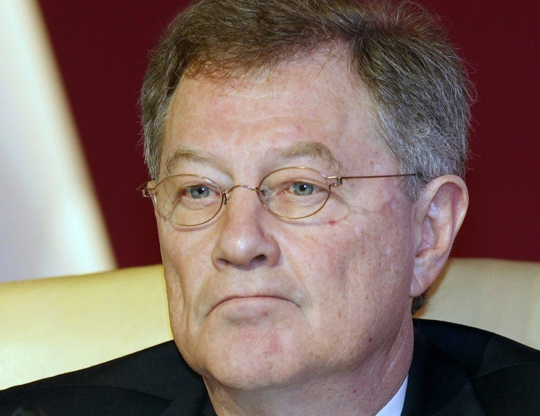 Image: U.N. Middle East envoy Robert Serry attends the opening of the International Conference on Jerusalem in Doha