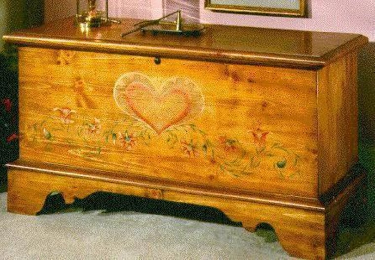 Two children suffocated in a Lane chest like this one early this year in Franklin, Mass.