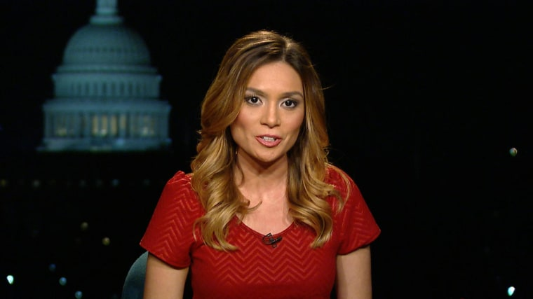 "Liz Wahl appears Wednesday on ""The Last Word with Lawrence O'Donnell"" on MSNBC."