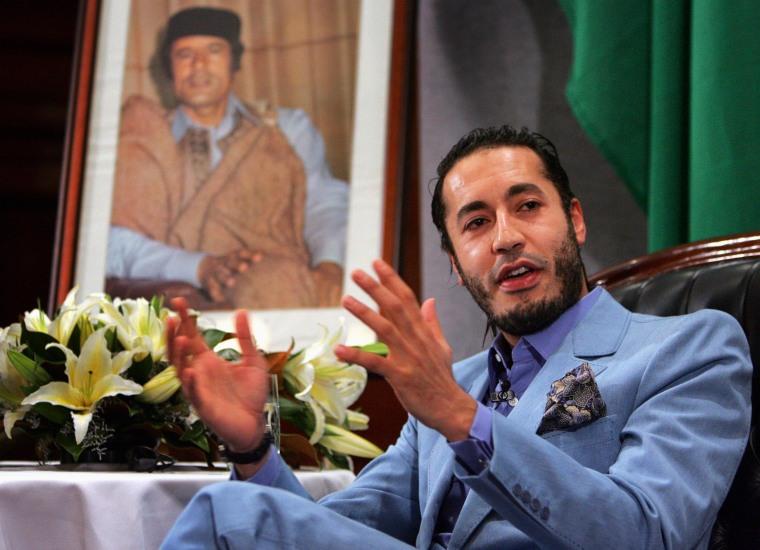 Image: Saadi Gaddafi, the third son of Libyan leader Muammar Gaddafi