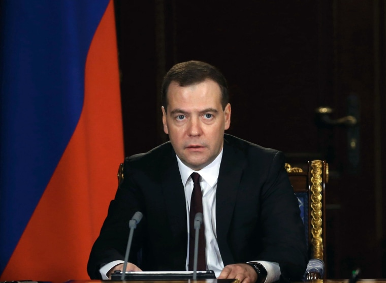 Russian Prime Minister Dmitry Medvedev on March 3.