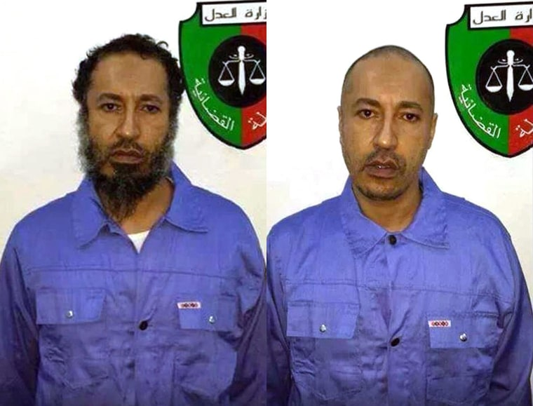 Image: Saadi Gadhafi in Libyan custody