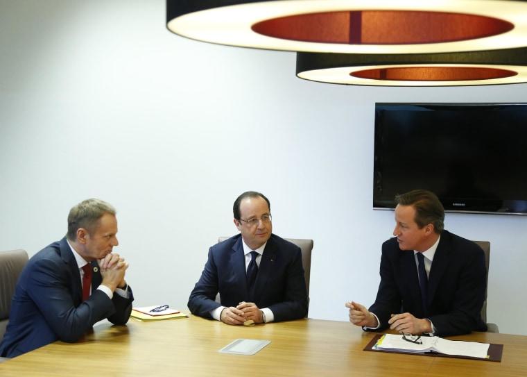 Image: Donald Tusk, Francois Hollande, David Cameron