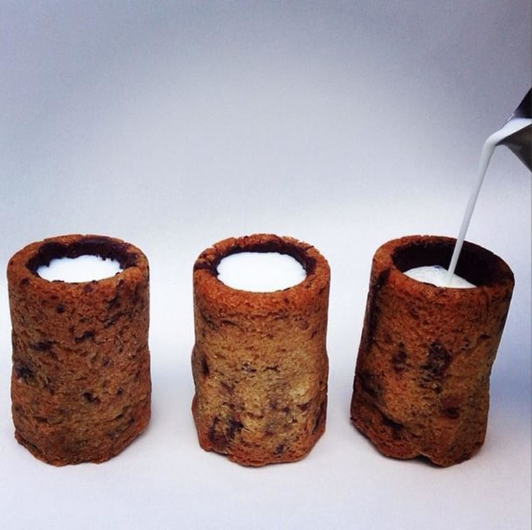 Chocolate Chip Cookie Milk Shots by Chef Dominique Ansel.