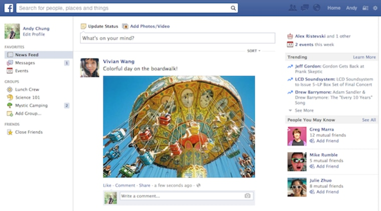 Facebook News Feed Redesign