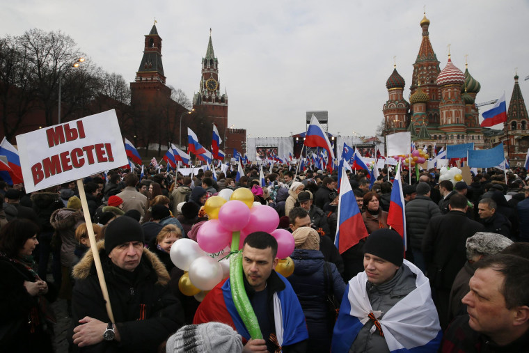 Image: A rally-concert in support of the people of Crimea in Moscow