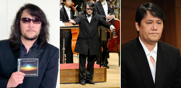 A photo composite showing 50-year-old Mamoru Samuragochi's physical transformation from 2011 to present day.