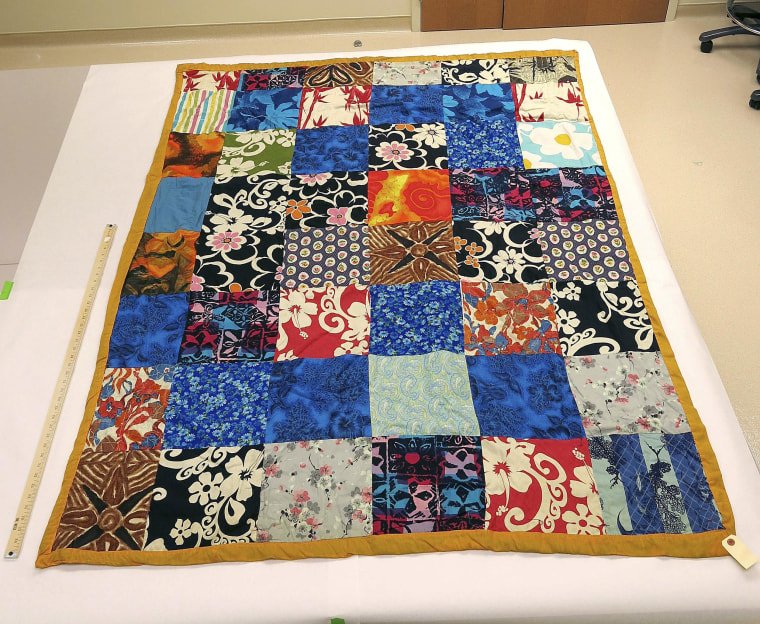 Image: Quilt found on the body of Cathy Zimmer